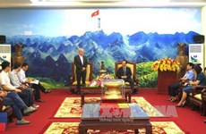 意大利共产党高级代表团对越南河江省进行工作访问