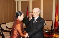 阮富仲总书记:推进柬越团结友谊可持续发展