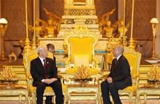 越南与柬埔寨发表关于加强友谊与合作关系的联合声明