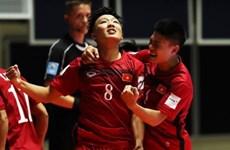 越南国家室内五人制足球队为出征第29届东运会做准备