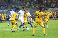 第29届东南亚运动会男足比赛:东道主马来西亚队以2比1击败文莱队