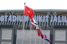 第29届东南亚运动会:11个国家体育代表队举行升旗仪式