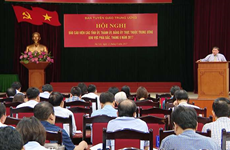 北部各省、中央直辖市和中央直属机构党委报告员召开8月份工作会议