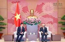 越南国会副主席汪周刘会见蒙古国国家大呼拉尔秘书处代表团
