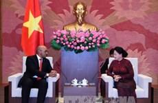 越南国会主席阮氏金银会见古巴驻越大使和莫桑比克总检察长