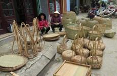 恢复传统竹编业帮助少数民族同胞提高经济收入
