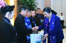 国会副主席丛氏放会见太原省模范少数民族代表