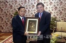 胡志明市领导会见老挝人民革命党中央办公厅代表团