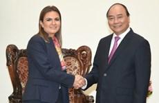阮春福总理会见埃及客人