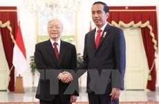 阮富仲总书记致电感谢印度尼西亚总统佐科·维多多