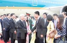 缅甸总统举行隆重仪式 欢迎越共中央总书记阮富仲到访