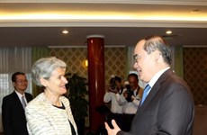 胡志明市领导人会见联合国教科文组织总干事