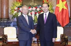 国家主席陈大光会见韩国大法院院长梁承泰