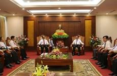 越老建交55周年:越南和平省与老挝琅勃拉邦省加强合作