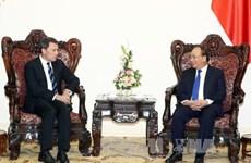 越南政府总理阮春福会见美国埃克森美孚集团领导