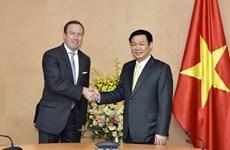 越南政府副总理王廷惠会见越南欧洲商会主席