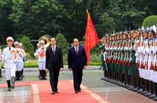 国家主席陈大光以最高礼遇欢迎埃及总统塞西访越