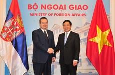 范平明与塞尔维亚第一副总理兼外交部长达契齐举行会谈