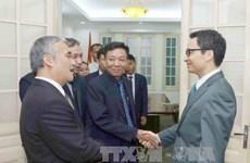 政府副总理武德儋会见柬埔寨《柬新社》副社长
