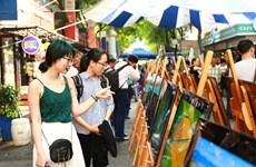 """""""2017年俯拍越南""""图片展在胡志明市书街举行"""