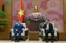 越共中央组织部部长范明政会见日本经济产业省大臣世耕弘成