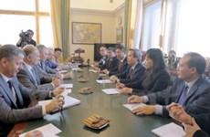 越共中央经济部部长阮文平对俄罗斯进行工作访问