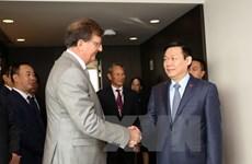 越南政府副总理王廷惠会见欧盟领导人