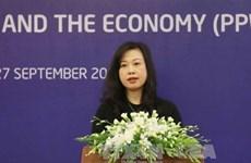 劳动荣军与社会部副部长陶红兰就越南举办APEC妇女与经济论坛回答记者提问