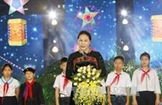 国会主席阮氏金银:儿童是家庭幸福的根基,是国家的未来