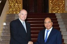 政府总理阮春福会见古巴外贸外资部长马尔米耶卡