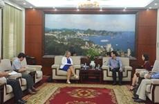 越南广宁省领导会见荷兰驻越南副大使