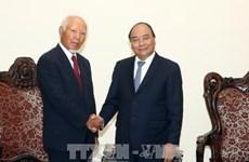 越南政府总理阮春福会见日本大成建设株式会社前社长