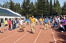 旅京越南人举行体育运动会