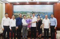 广宁省人民委员会主席阮德龙会见该省企业协会