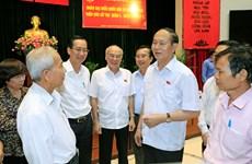 越南国家主席陈大光接待胡志明市选民