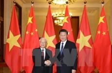 越共中央总书记阮富仲致电祝贺习近平再次当选中共中央总书记