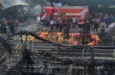 印度尼西亚一座烟花厂爆炸  近50人死亡
