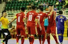 HD Bank杯室内五人制足球东南亚锦标赛:越南队以24比0大胜菲律宾队