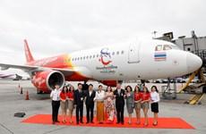 泰国越捷航空印有泰国旅游标志的第二架飞机正式现身