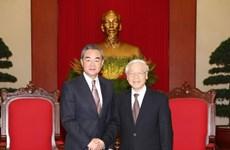 越共中央总书记阮富仲会见中国外交部长王毅