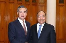 政府总理阮春福会见中国外交部长王毅