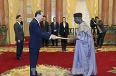国家主席陈大光接受三国新任驻越大使递交的国书