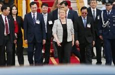 智利共和国总统米歇尔抵达河内 开始对越南进行国事访问