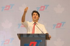 加拿大总理离开胡志明市 启程出席APEC领导人会议周活动