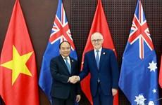 越南政府总理阮春福会见澳大利亚总理和新西兰总理