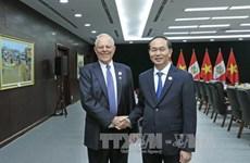 陈大光分别与秘鲁和墨西哥两国总统举行双边会晤
