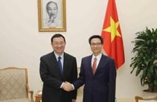 越南政府副总理武德儋会见中国文化部部长雒树刚
