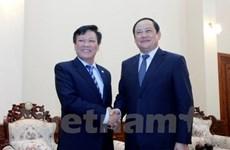 越老建交55周年:老挝领导高度评价两国内务部的合作