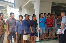 印尼于11月16日对越南5名船长进行审理