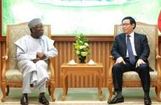 越南政府副总理王廷惠:越南希望促进与尼日利亚多方面合作关系